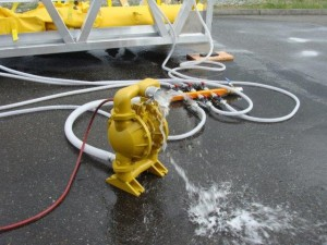Offloading with Diaphragm Pump